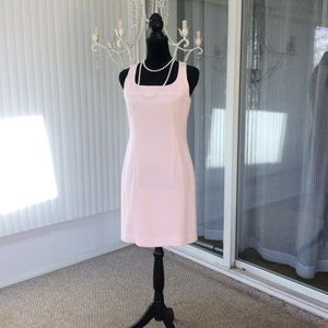 Cache Pastel Pink Fitted Sleeveless Dress